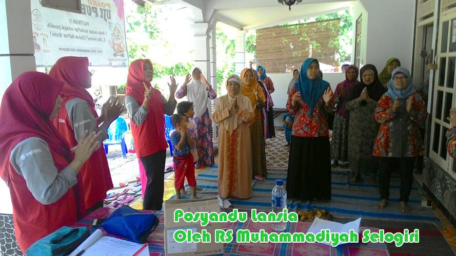 Posyandu Lansia di Ngepos, Rt 01/02, Nambangan